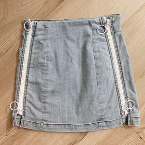 LF mini zip up skirt